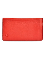 Red Textured Leather Wallet - Kara