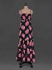 Cami Neck Floral Print Cotton Maxi Dress - Wildrose