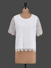 Round Neck Lace Top - VAAK