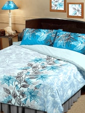 Floral Leaf Print Cotton Bedsheet Set - Raymond Home