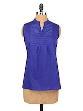 Royal Blue Short Cotton Kurta - KIRA