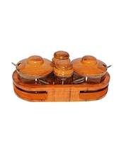 Param Veer Brown Pickle,Salt & Pepper Stand -  online shopping for Table Accessories