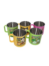 Paramveer Multicolour Plastic Coffee Cup Set Of 5  -  online shopping for Cups