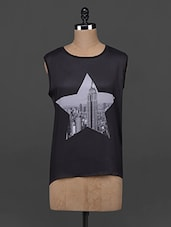 Sleeveless Star Printed Cotton Top - AHE