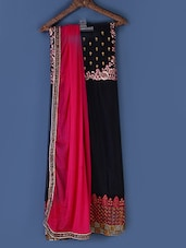 Pink And Black Embroidered Suit Set - Styles Closet