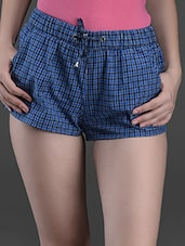 Checks Printed Cotton Shorts - Hypernation