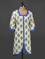 Ethnic Print Quarter Sleeve Cotton Kurta - Adyana