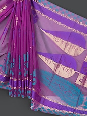 Magenta Art Silk Saree - Prabha Creations
