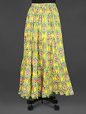 Block Printed Flared Cotton Long Skirt - Indian Shoppe