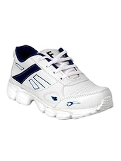 white,blue leatherette sport shoes -  online shopping for Sport Shoes