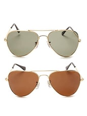 brown and black Metal Sunglasses Set of 2 -  online shopping for Sunglasses
