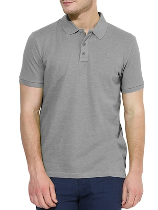 solid grey cotton t-shirt