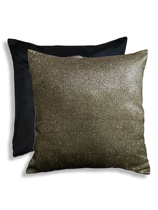 Gold Foil in Small Honeycomb Pattern Cushion Cover