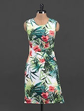 Botanical Printed Sleeveless Bodycon Dress - Sweet Lemon