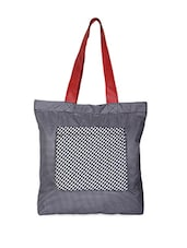 Checked Tote Bag - Vogue Tree