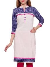 Off White  Khadi Cotton Regular Kurta - By