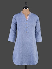 Three Quarter Sleeve Cotton Kurta - Maybell