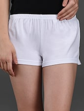 Cotton Lycra White Hot Pant - Finesse
