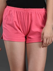 Cotton Lycra Pink Hot Pant - Finesse