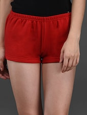 Red Fleece Hot Pant - Finesse