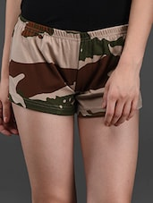 Camouflage Print Hot Pant - Finesse