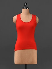 Round Neck Red Tank Top - Finesse
