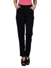 Black Cotton Lycra Track pants -  online shopping for Track pants