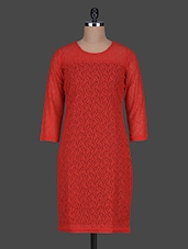 Red Bodycon Lace Dress - Color Cocktail