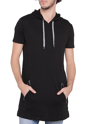 black fleece sweatshirt