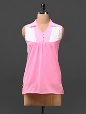 Baby Pink Color Block Yoke Top - London Off
