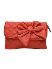 Bow Embellished Quilted Sling Bag - Lass Lee