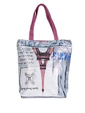 Eiffel Tower Printed Canvas Tote Bag - Lass Lee