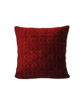 Red Velvet,cotton Single Cushion Cover - By