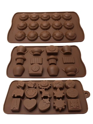 Polo Lifetime Chocolate/Candy/Ice Silicone Moulds (Set of 3)