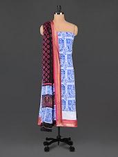 Paisley Printed Cotton Unstitched Suit Set - By