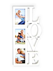 White Love  Collage Photo Frame - By