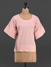 Cotton Round Neck Top - The Shop