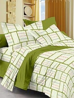 Green cotton spark single bedsheet set -  online shopping for bed sheet sets