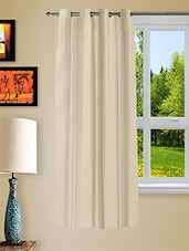 White Faux Silk Eyelet One Piece Window Curtain - Story @ Home