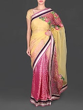Heavy Embroidered Border Heavy Net Saree - Utsav