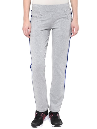 grey cotton track pants