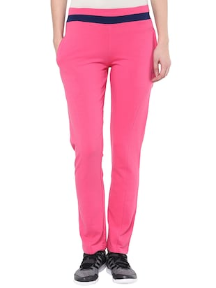 pink cotton track pants