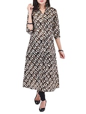 Brown Cotton Long  Kurta - By