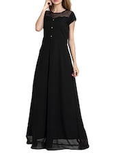 black polyester gown dress -  online shopping for Dresses