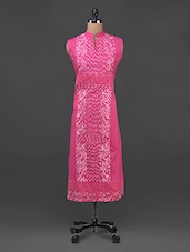 Embroidered Mandarin Collar Sleeveless Kurta - Aadhunik Libaas