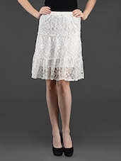 White Lace Skirt - Feyona