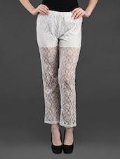 White Sheer Lace Pant - Feyona