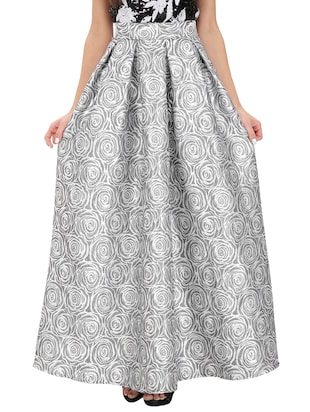 grey cotton satin skirts