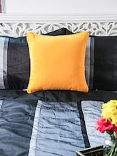 Yellow Cotton Cushion Cover - By