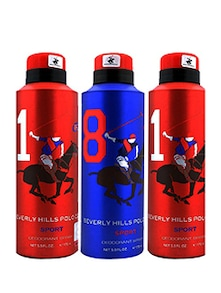 Beverly Hills Polo Club 2 red and 1 blue Deo combo Men 150ml Pack Of 3